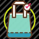 bag, earth, eco, fabric, greenpeace, save, use icon