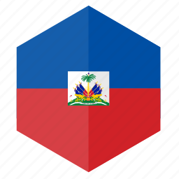 america, country, design, flag, haiti, hexagon icon