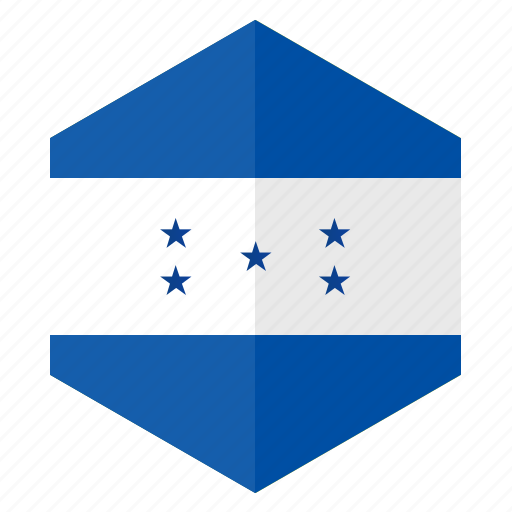 america, country, design, flag, hexagon, hondurus icon