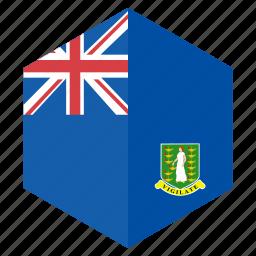 america, country, design, flag, hexagon, vergin island icon