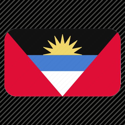 and, antigua, barbuda, flag icon, north america, rounded icon