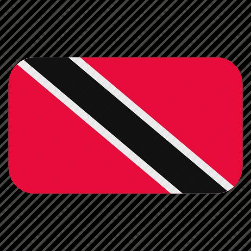 and, flag icon, north america, rounded, tobago, trinidad icon