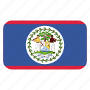 belize, flag icon, north america, rounded icon