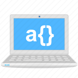 computer, developer, laptop, notebook, programming icon