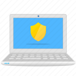 antivirus, computer, laptop, notebook, secure, shield icon