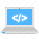 computer, develop, developing, laptop, notebook, programming icon