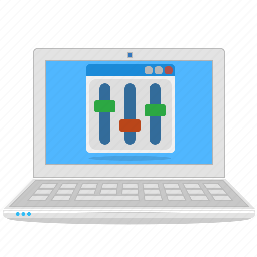 computer, configuration, laptop, notebook, setup icon