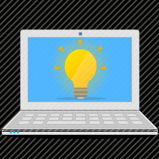 computer, idea, laptop, notebook icon