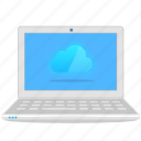 cloud, computer, laptop, notebook icon