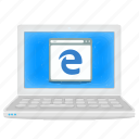 browser, edge, internet, laptop, notebook icon