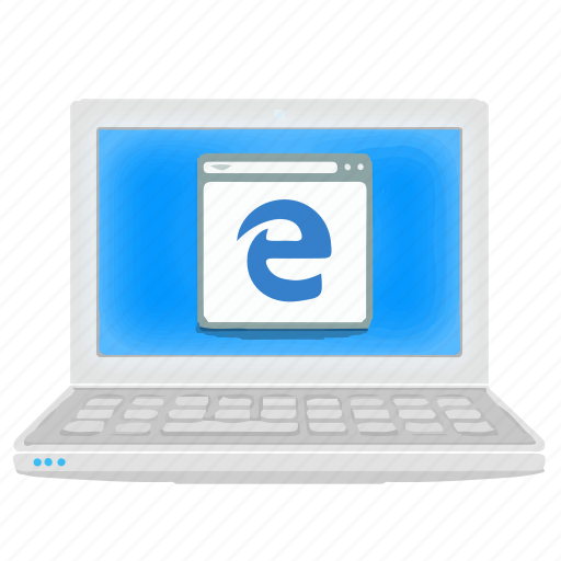 Browser, laptop, edge, notebook, internet icon