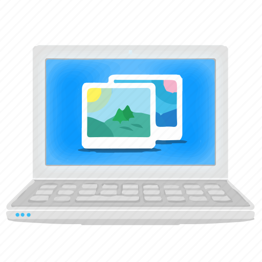 gallery, image, laptop, notebook, photo, picture icon