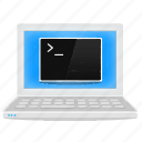 cmd, command line, console, laptop, notebook, shell icon