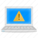 alarm, alert, laptop, notebook, warning icon