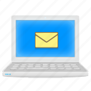 emai, inbox, laptop, mail, notebook icon