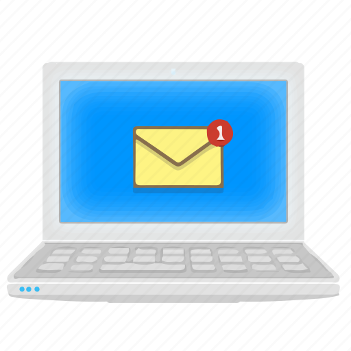 email, inbox, laptop, mail, message, notebook icon