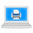 laptop, notebook, printer, virtual printer icon