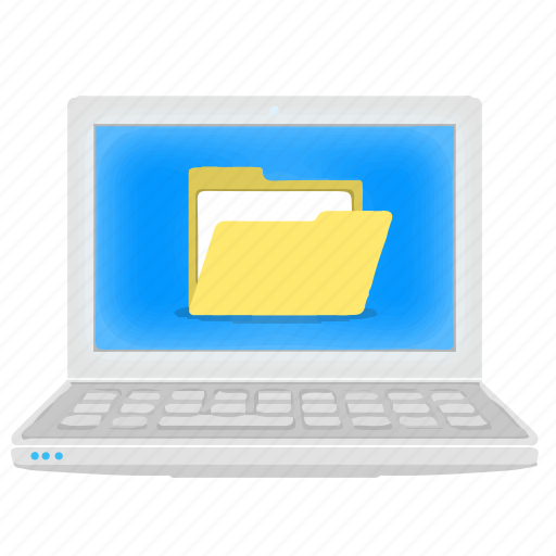 directory, files, folder, laptop, notebook icon