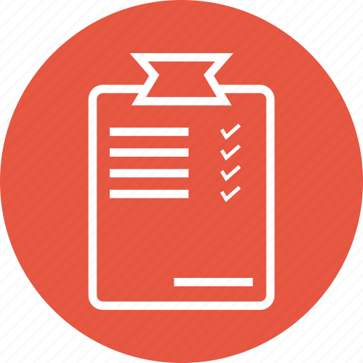 clipboard, document, list, notepad icon