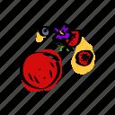 berries, dessert, fresh dish, fruit, ice cream, nouvelle cuisine icon