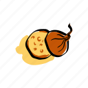 cheese, cream, food, meal, onion, soup icon