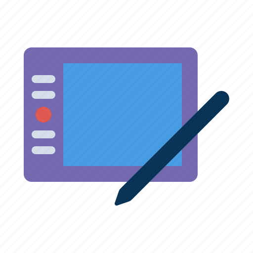 device, drawing, pen, tablet icon
