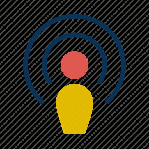 communication, media, mobile, multimedia, podcasts icon