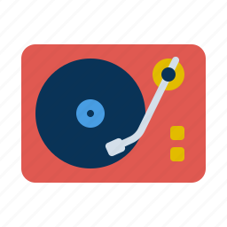 instrument, music, player, record, speaker icon