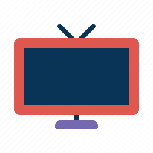monitor, old, screen, set, television icon
