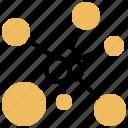 atom, electron, molecule, neutron, proton icon