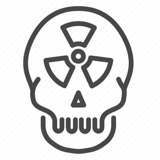 dead, hazard, nuclear, power, radioactive icon