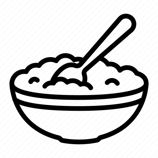 bowl, curd, dish, food, milk, nutrition, spoon icon