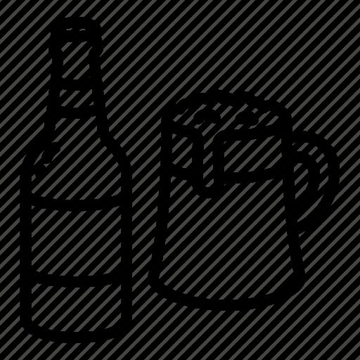 alcohol, bar, beer, bottle, food, mug, nutrition icon