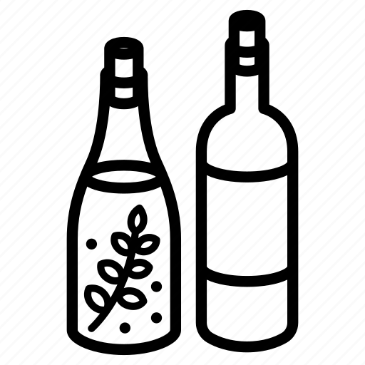 alcohol, bottle, food, herbs, nutrition, tincture, wine icon