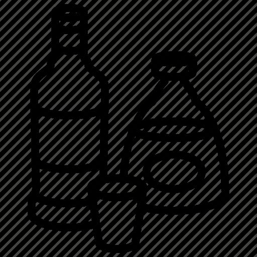 alcohol, bottle, cognac, food, nutrition, strong, vodka icon
