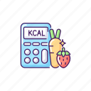 calories, calorie icon, healthy diet, calculator icon