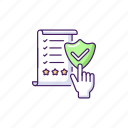 regulatory compliance, regulatory compliance icon, quality standard, business document icon