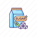 sugar, sugars icon, refined, sweetener icon