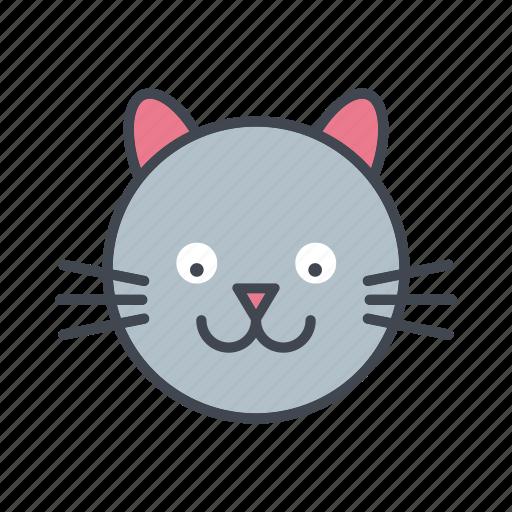 Animal Cartoon Cat Face Head Pet Icon