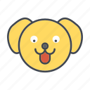 animal, cartoon, dog, face, head, pet icon