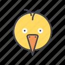 animal, bird, cartoon, chicken, face, head