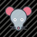 animal, cartoon, face, head, mouse, wildlife