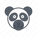 animal, bear, cartoon, face, head, panda, wildlife