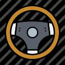 automotive, car parts, repair, service, steering wheel icon