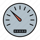 automotive, car parts, dashboard, odometer, repair, service, speedometer icon