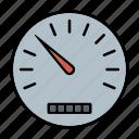 automotive, car parts, dashboard, odometer, repair, service, speedometer icon