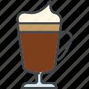 barista, beverage, coffee, drink, glass, irish coffee icon