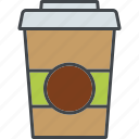 barista, beverage, coffee, cup, disposable, drink, take away icon