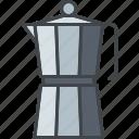 barista, beverage, coffee, drink, espresso, moka, pot icon