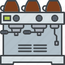 barista, beverage, coffee, drink, espresso, machine icon